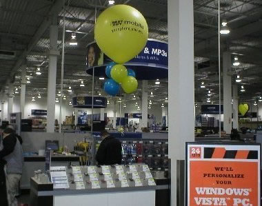 Best Buy Display of 5 foot balloon