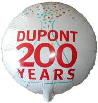 Dupont 200 Years Mylar Balloon